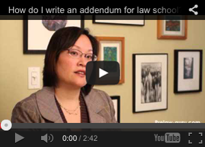 How to write an addendum for law school?